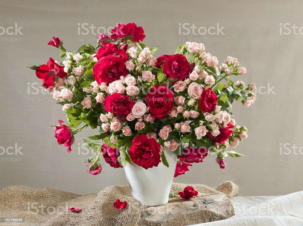 Bouquet of roses. royalty-free stock photo