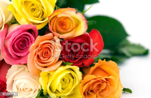 istock Bouquet of Roses, up Close, Personal, Promotes Love 91090291