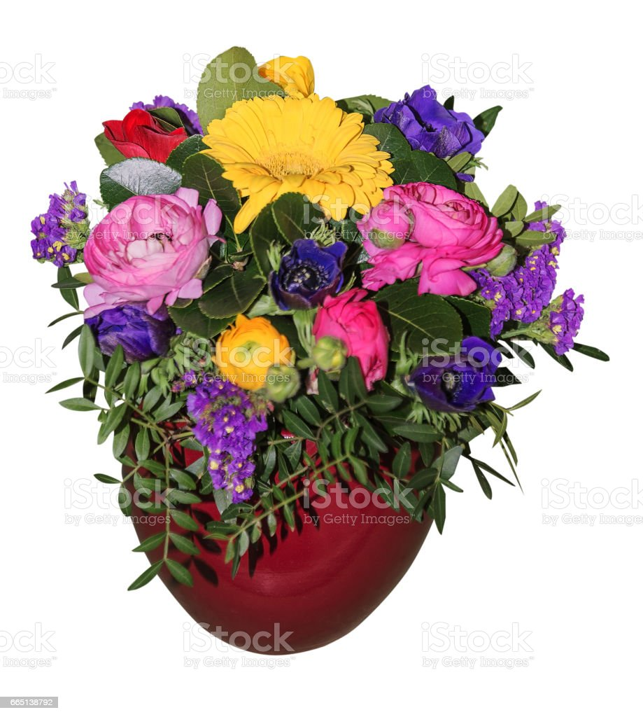 Bouquet Of Spring Flowers Isolated Stock Photo & More Pictures of ...