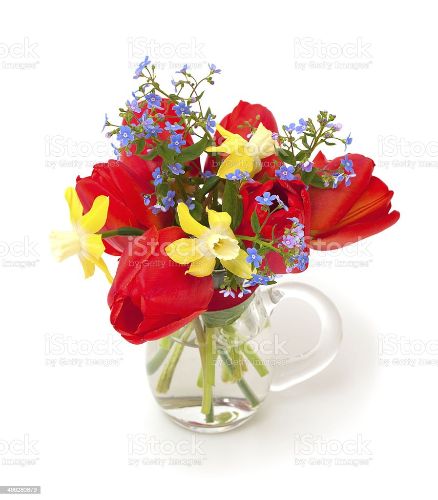 bouquet of spring flowers royalty-free stock photo
