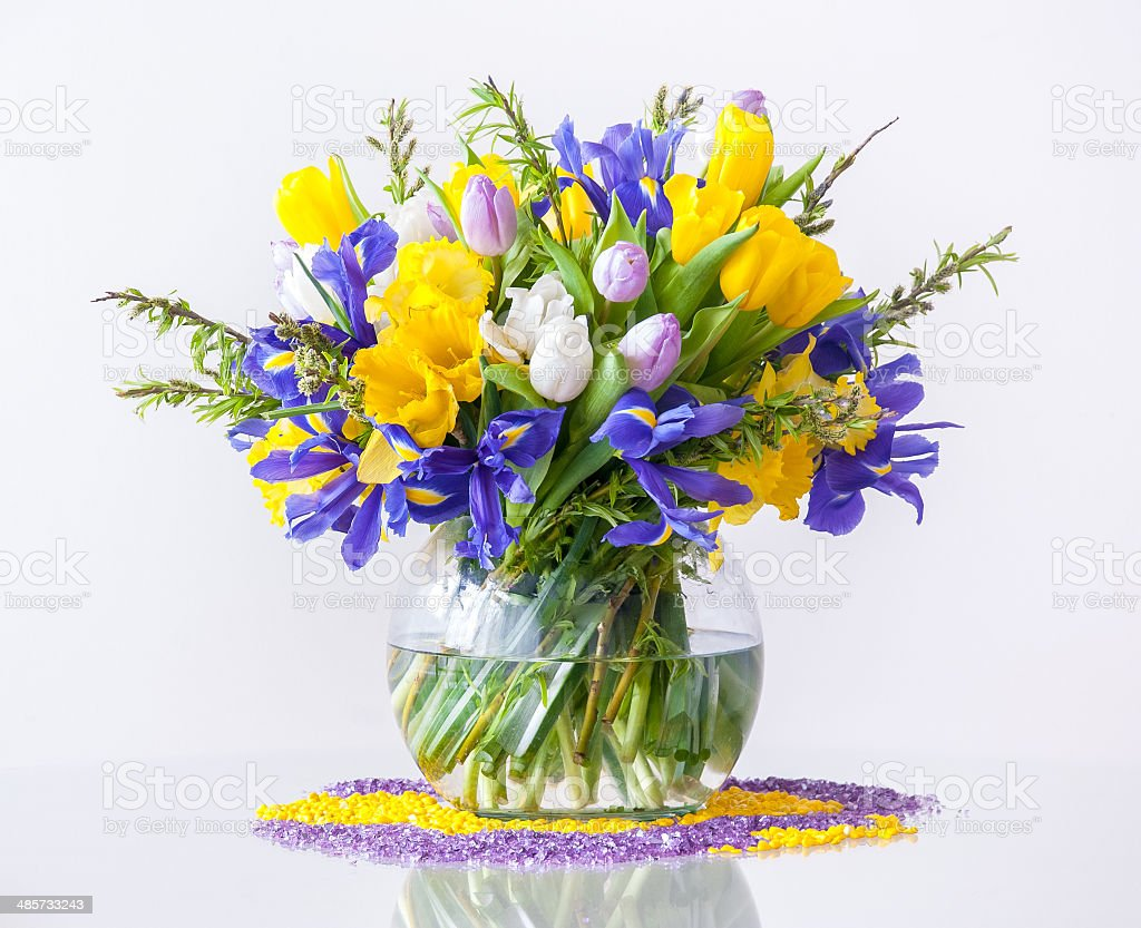 Mazzo Di Fiori Di Primavera.Bouquet Di Fiori Di Primavera Fotografie Stock E Altre Immagini