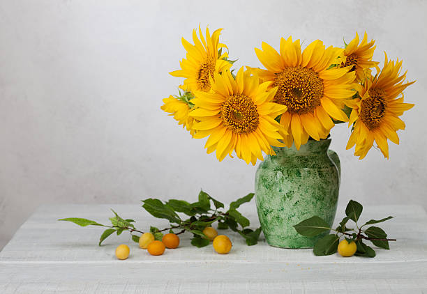 Royalty Free Sunflowers In Vase Pictures Images And Stock Photos