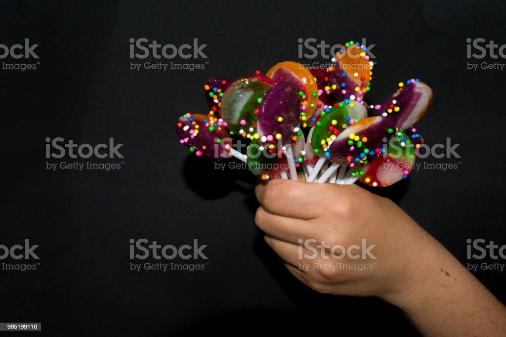 bouquet of sweet lollipops zbiór zdjęć royalty-free