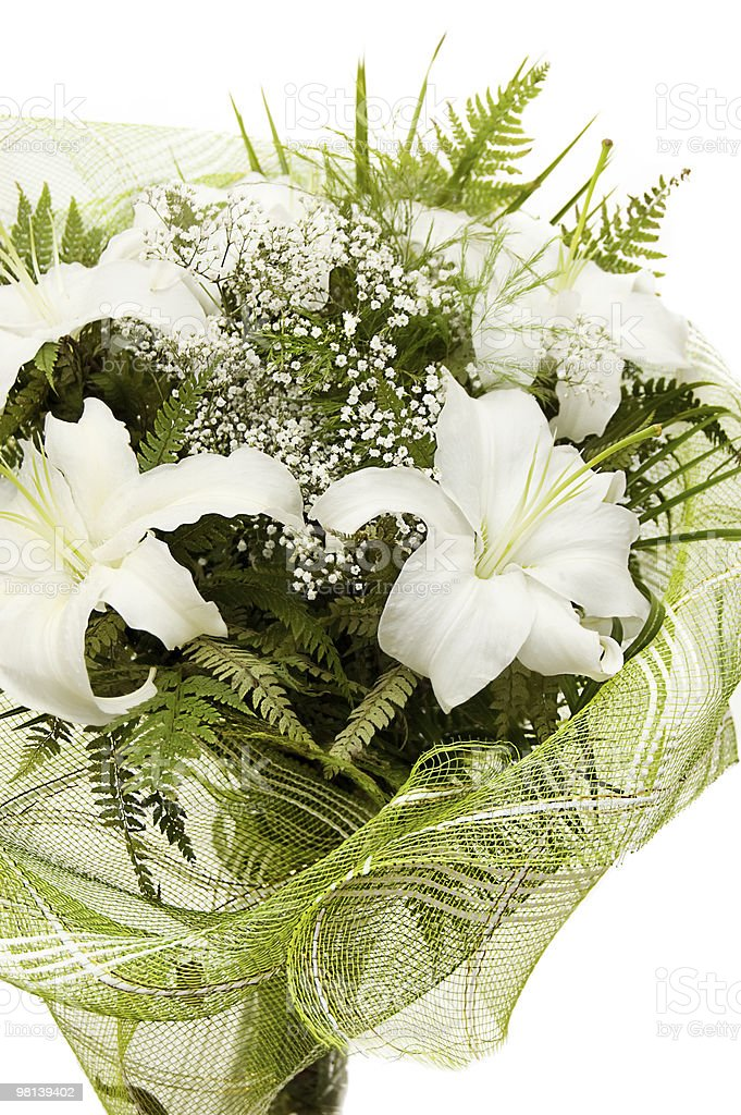 Bouquet of white lilies royalty-free stock photo