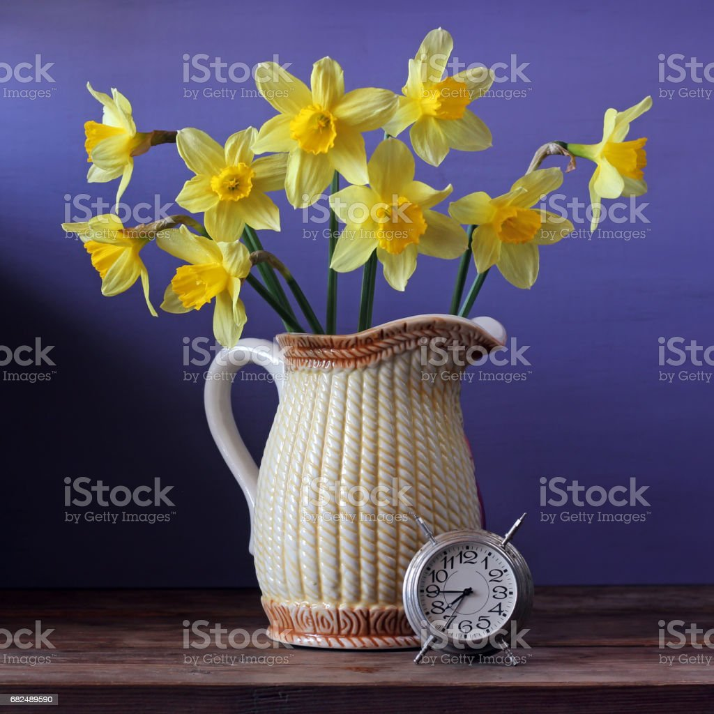 Bouquet of yellow daffodils. royalty-free stock photo