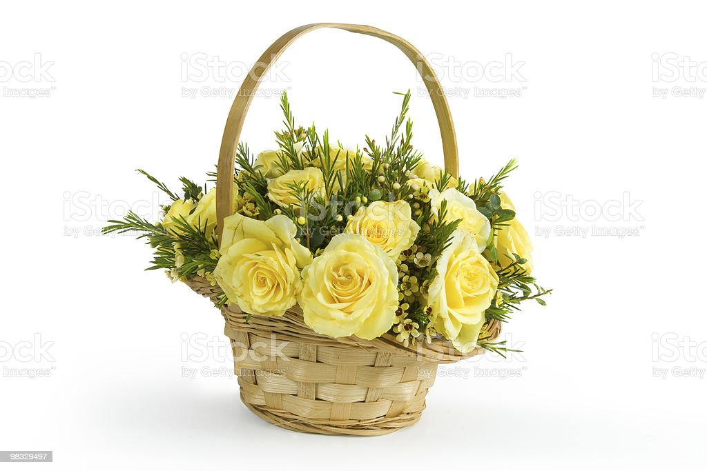 Bouquet of yellow roses royalty-free stock photo