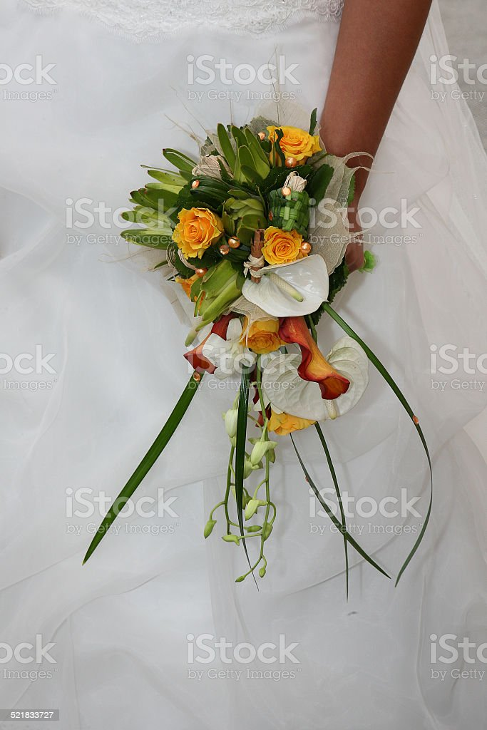 Bouquet orange et blanc stock photo