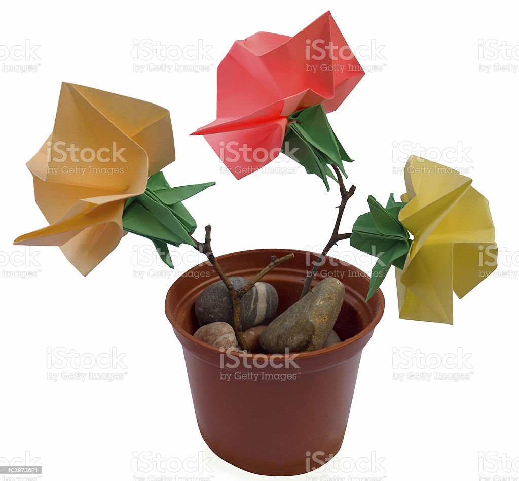 Origami bouquet royalty-free stock photo