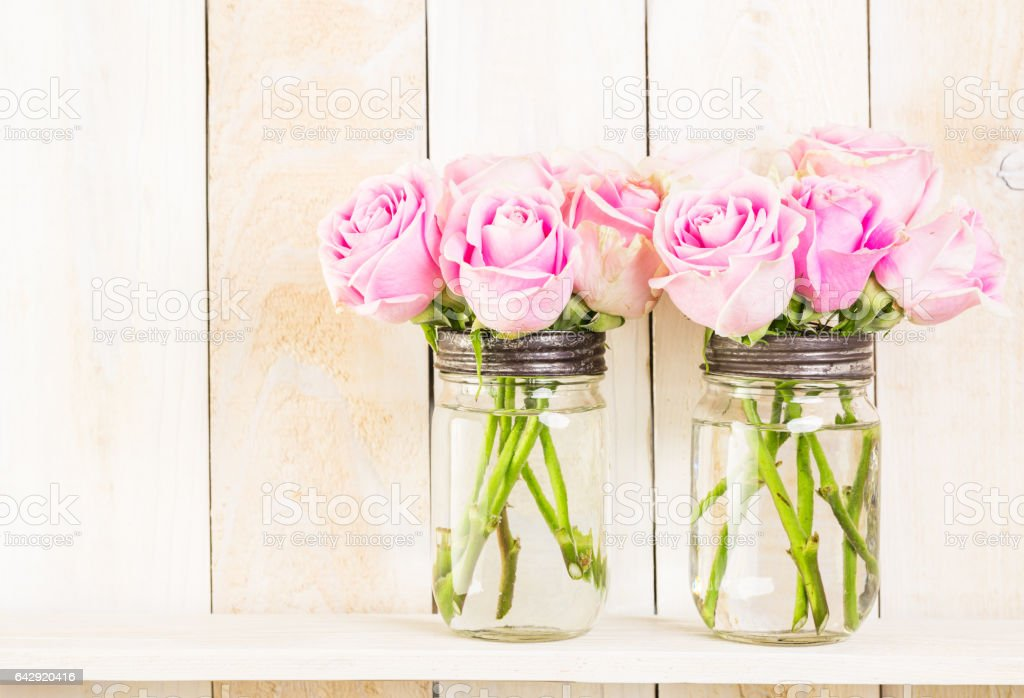 Bouquet with pink roses - Photo