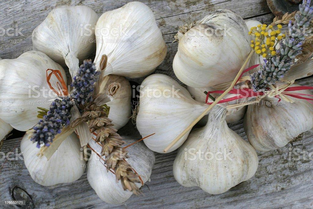 Bouquets d'ail de provence royalty-free stock photo