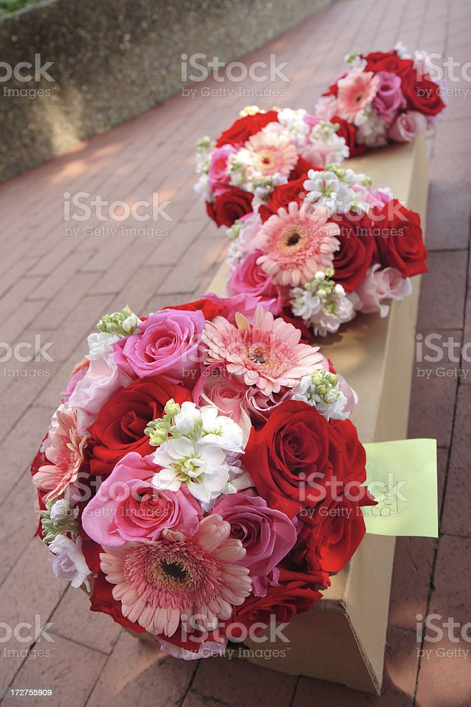 Bouquets in waiting royalty-free stock photo