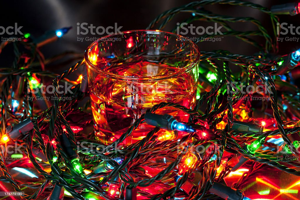 Bourbon And Tangled Christmas Lights Stock Photo Download Image Now Istock