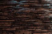 Bourbon Barrel Staves on Wall Texture Horizontal