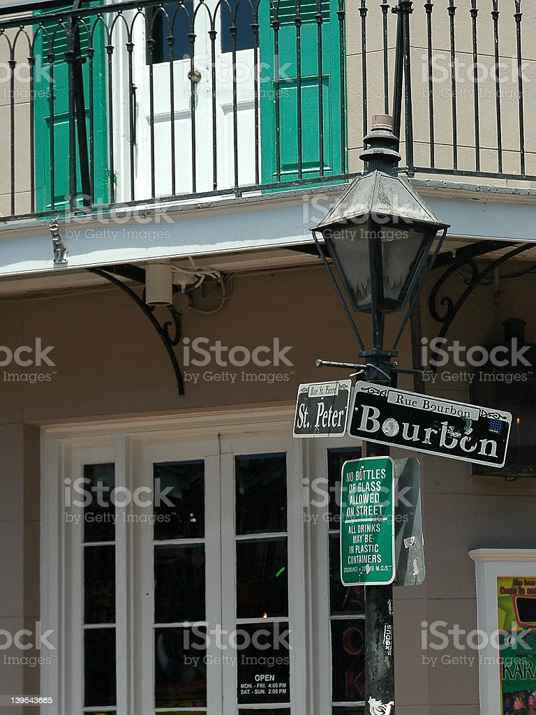 Bourbon St. royalty-free stock photo