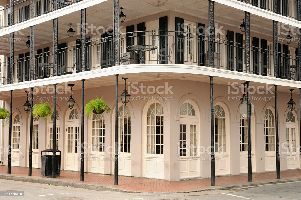 Bourbon Street New Orleans Building stock photo