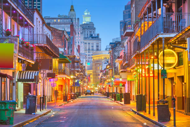 Bourbon Street, New Orleans, Louisiana, USA – Foto