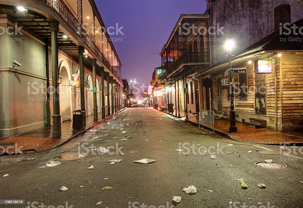 Bourbon Street, New Orleans royalty-free stock photo