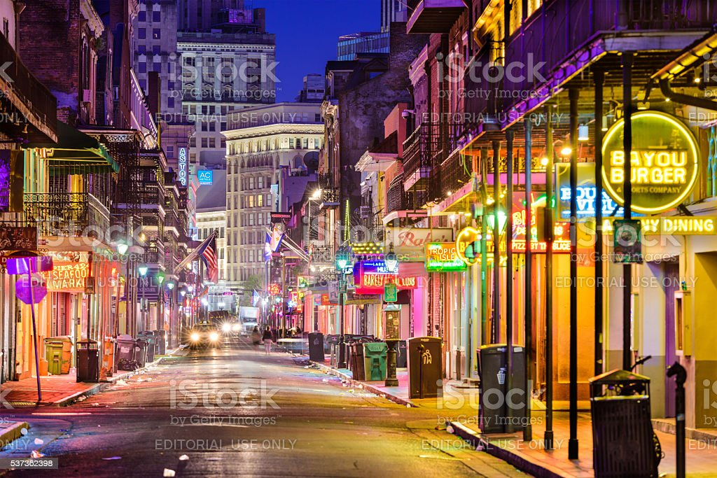 Bourbon Street New Orleans stock photo