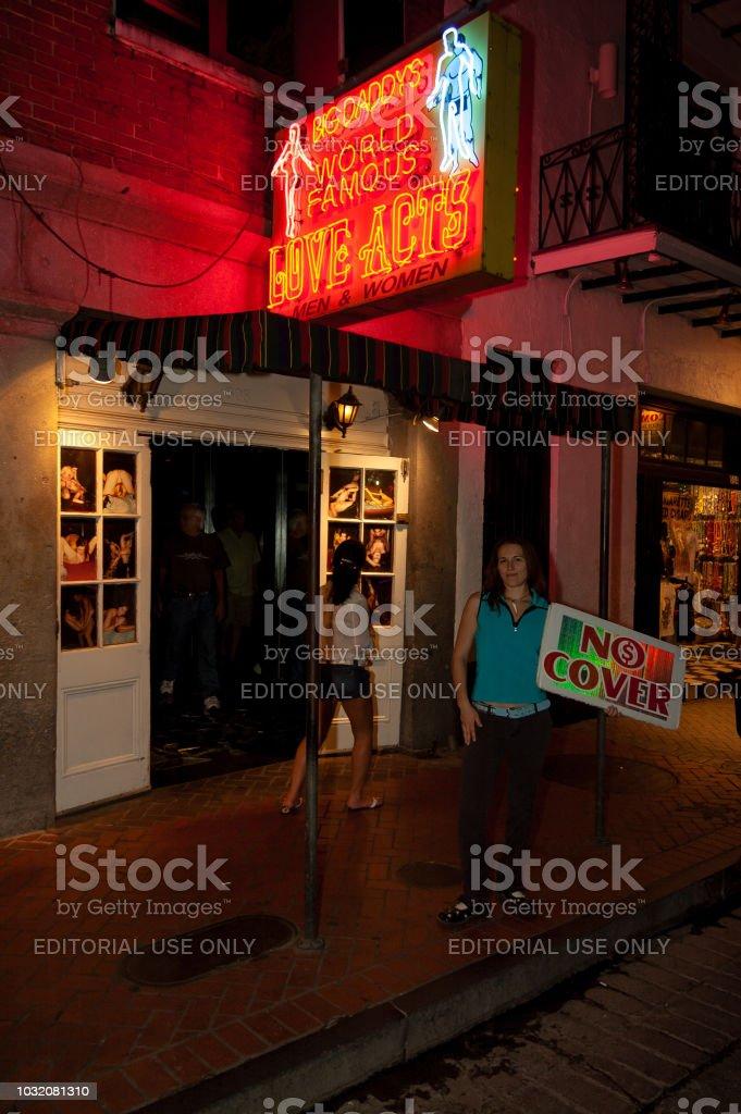 Bourbon Street royalty-free stock photo