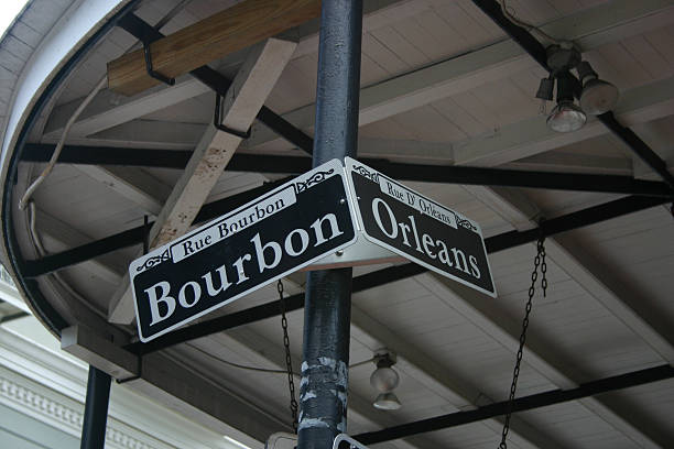 Bourbon Street stock photo