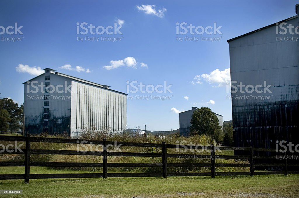 Bourbon Warehouses royalty-free stock photo