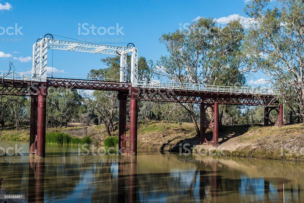 Bourke, Historic Bridge on the Darling River, Outback, NSW, Australia​​​ foto