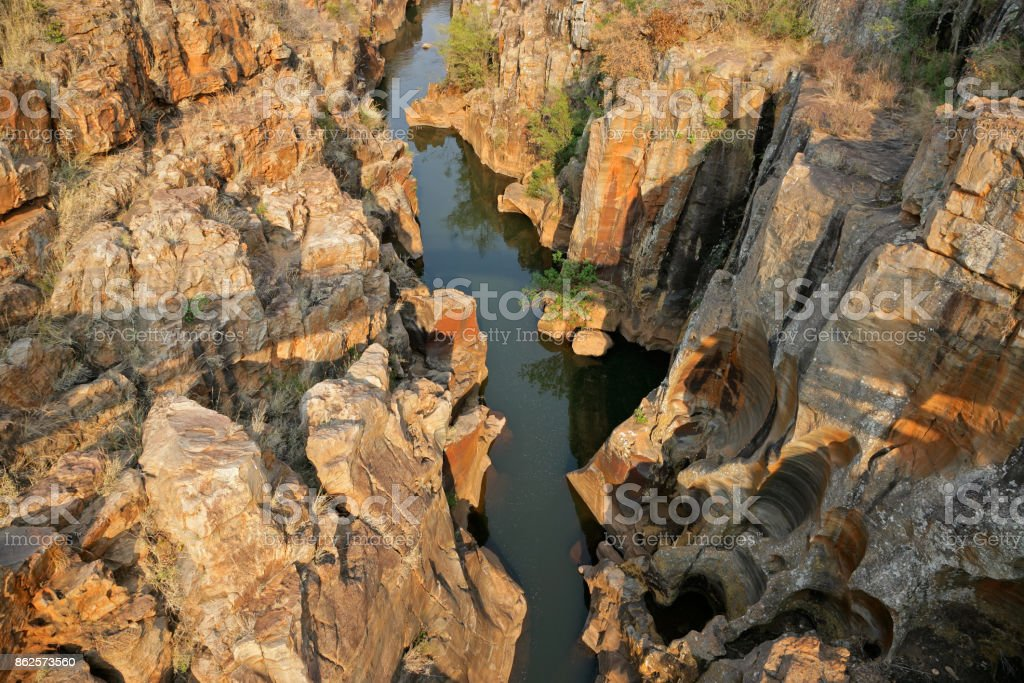 Bourkes Luck Potholes in the Blyde river canyon stock photo
