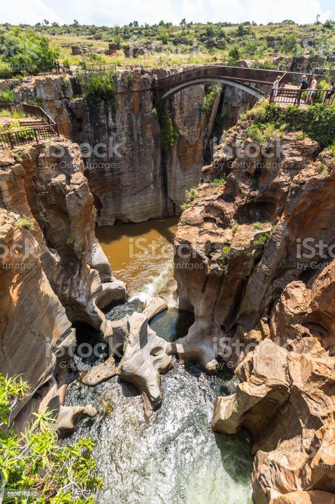 Bourkes Luck Potholes landscape view, South Africa stock photo