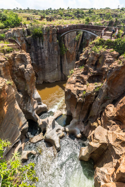 Bourkes Luck Potholes landscape view, South Africa stock photo