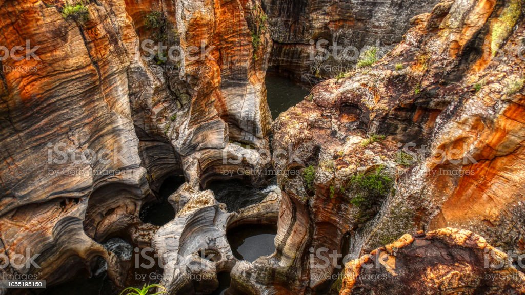 Bourke's Luck Potholes, South Africa stock photo