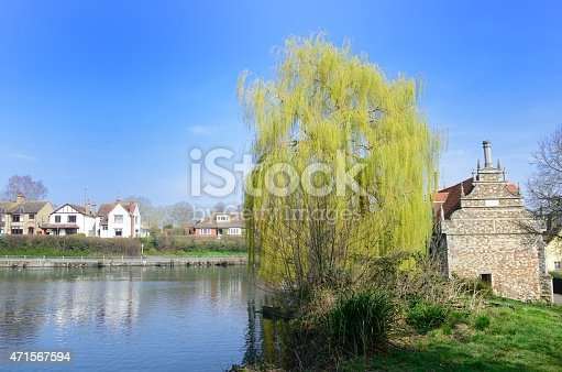istock Bourne Mill with mill pond 471567594