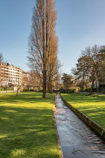Bourne Stream runs through Bournemouth Gardens public park