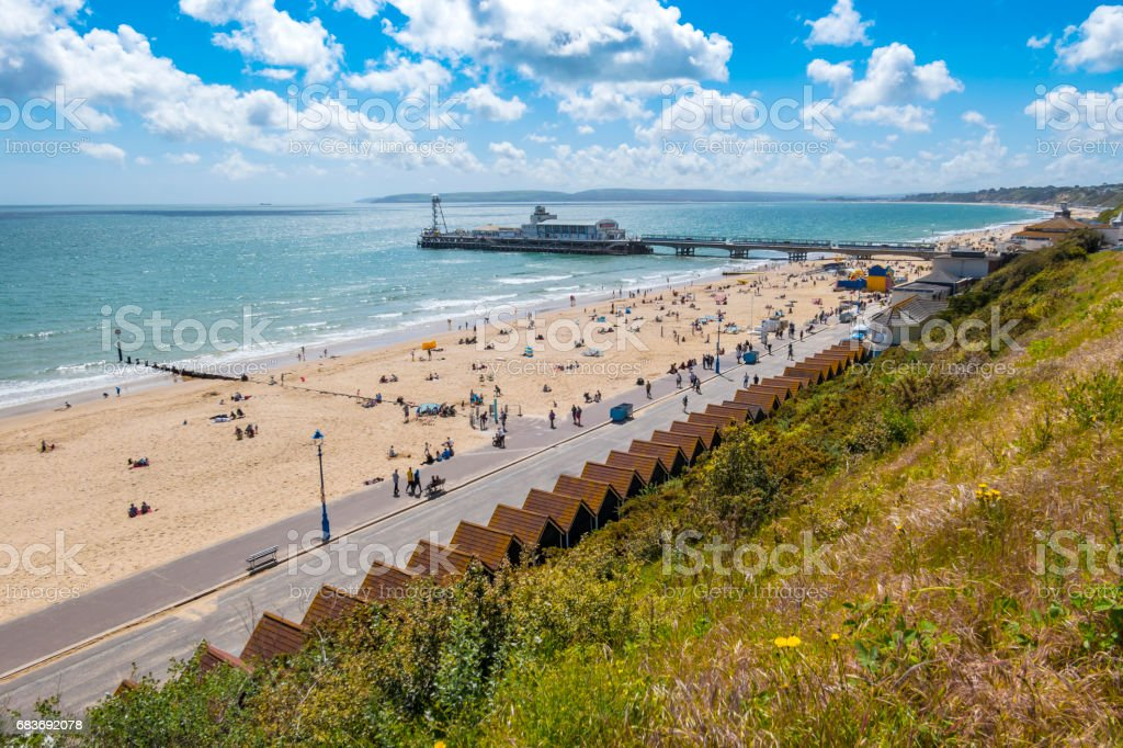 Bournemouth Beach and Pier 2017 stock photo