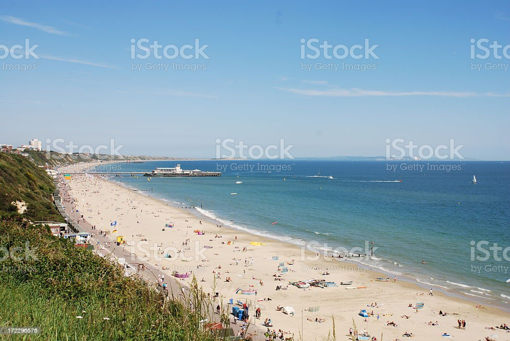 Bournemouth Beach and Pier stock photo