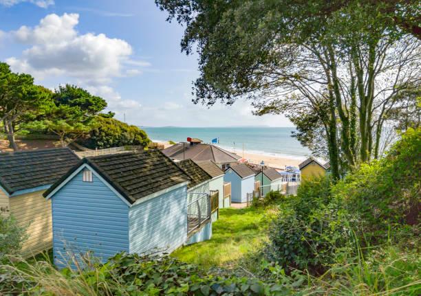 Bournemouth Beach from Alum Chine stock photo