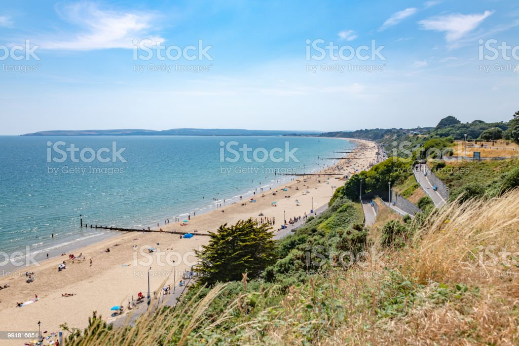 Bournemouth beach in the summer stock photo