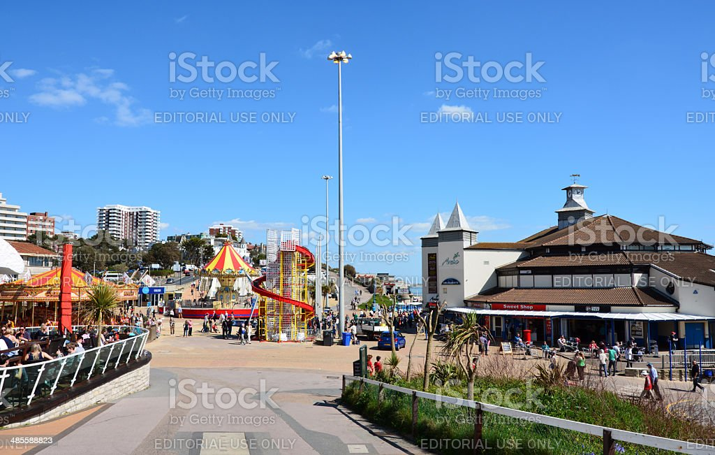 Bournemouth Pier Approach stock photo