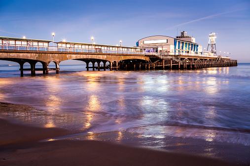 Bournemouth Pier at night Dorset