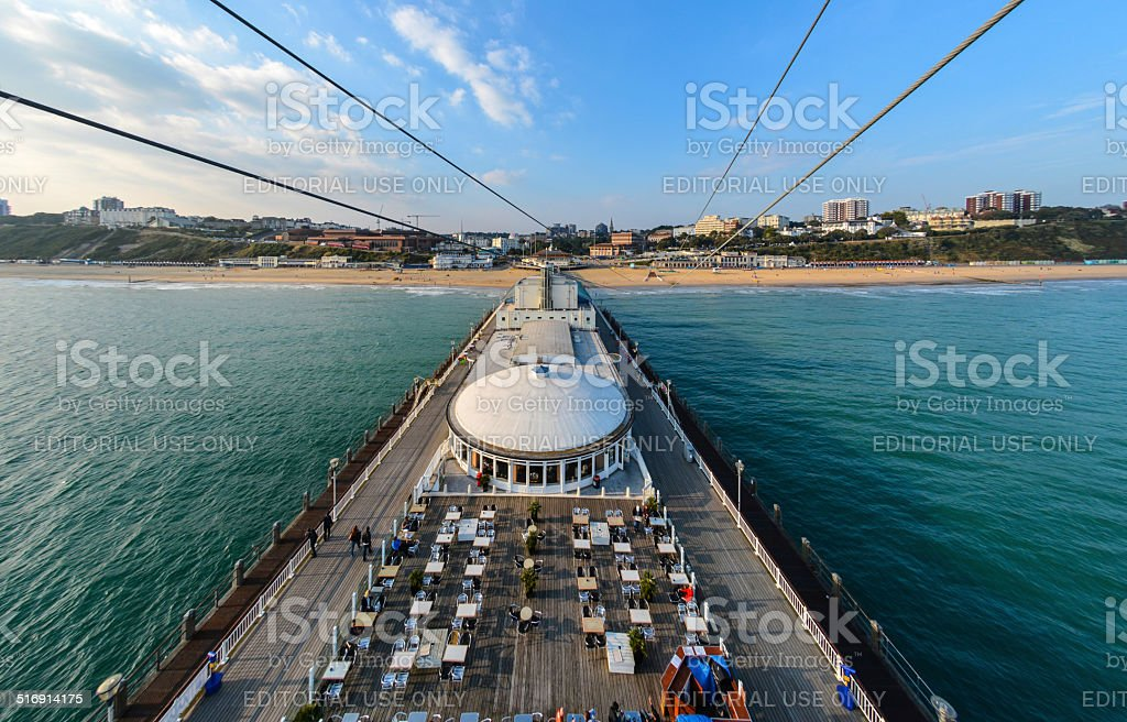 Bournemouth Pier from Up High stock photo
