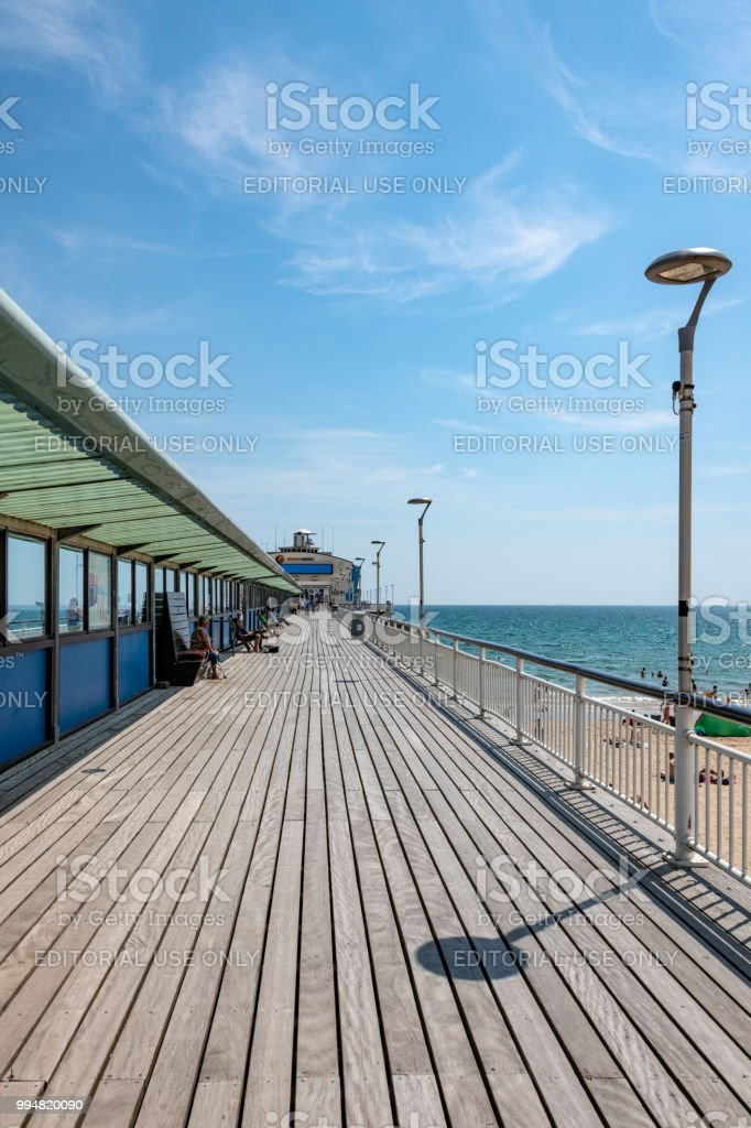 Bournemouth pier in the sun stock photo