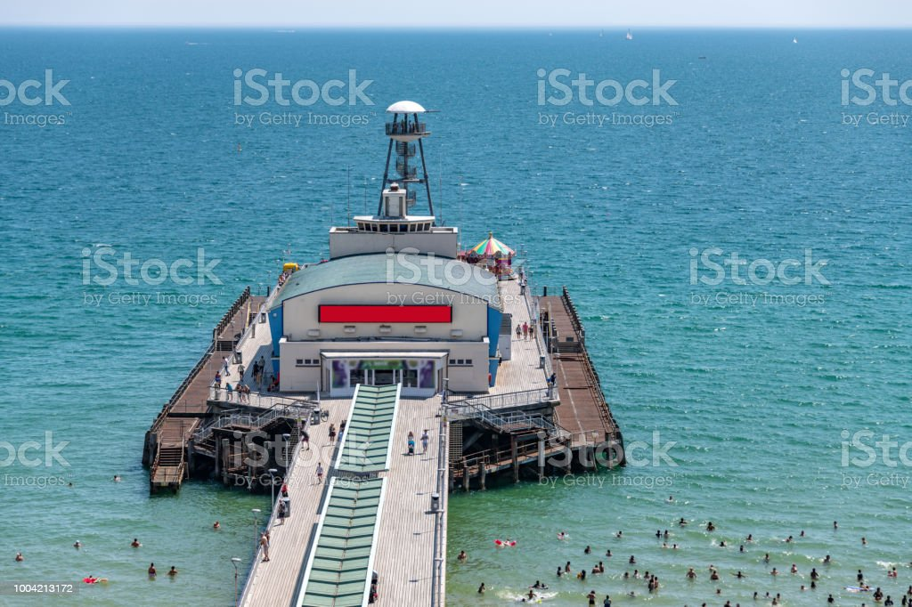 Bournemouth pier on a summers day stock photo