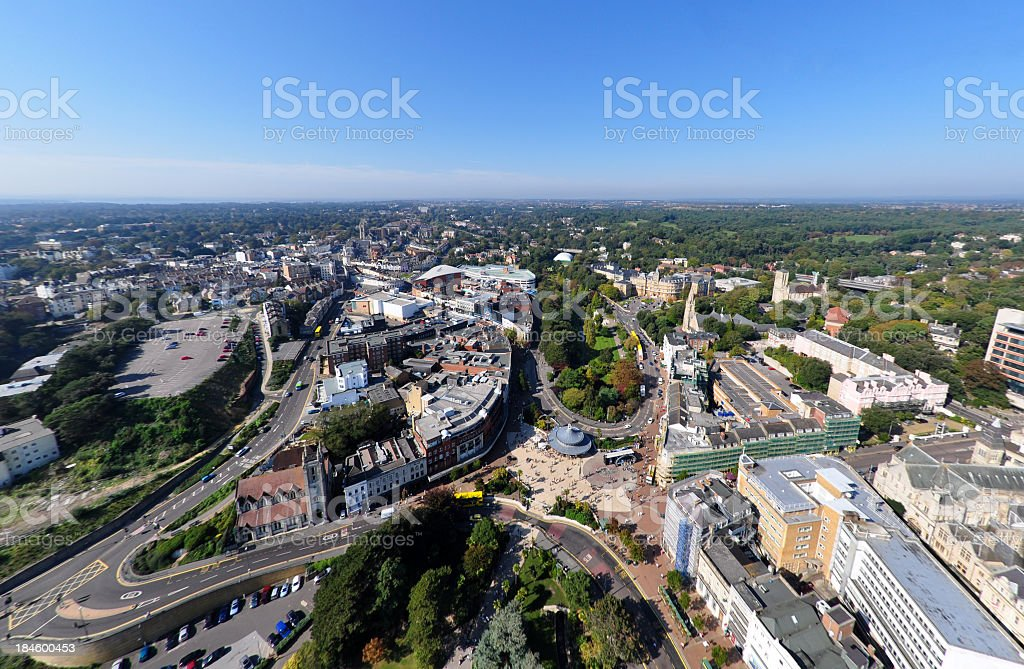 Bournemouth Town Centre stock photo