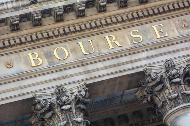 Bourse french stock market stock photo