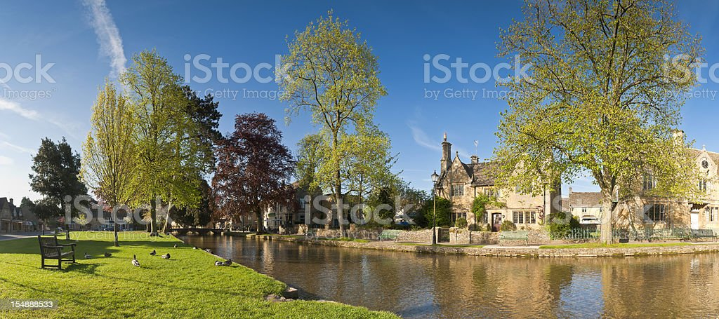 Bourton on the water, Cotswolds stock photo