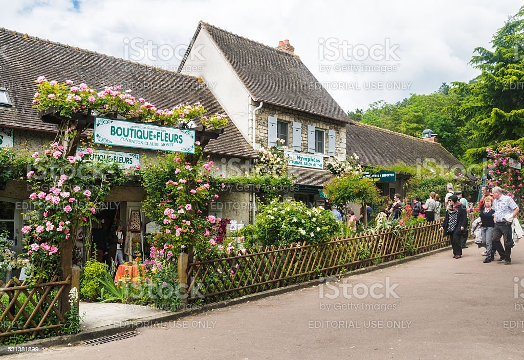 Boutique and Restaurant at Giverny stock photo
