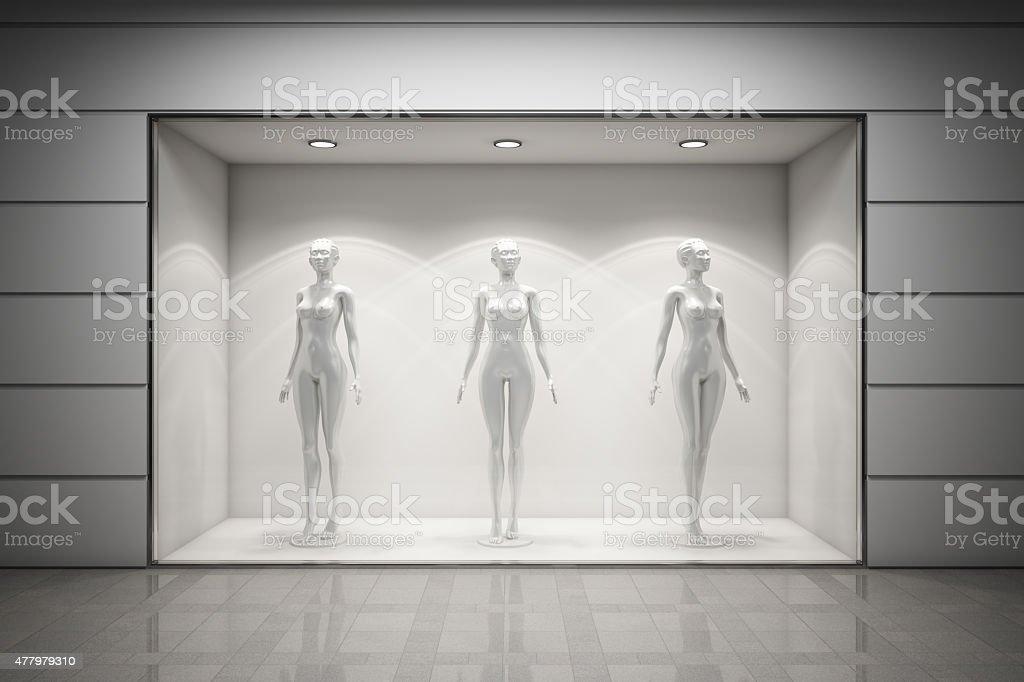 Boutique display window stock photo