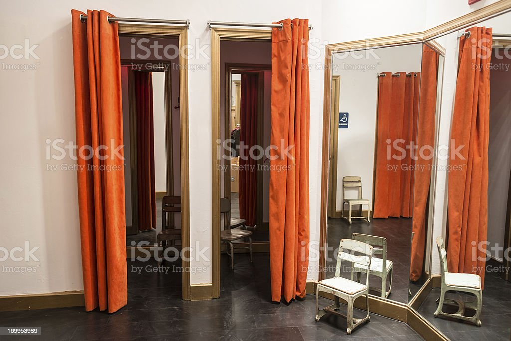 Boutique Fitting rooms stock photo