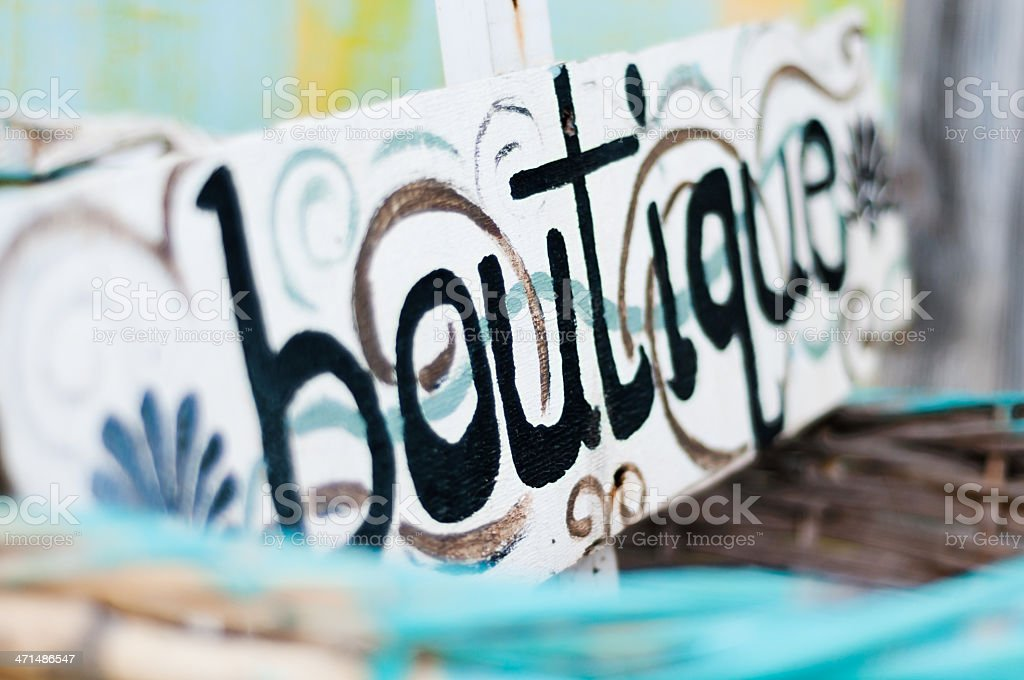 Boutique sign royalty-free stock photo