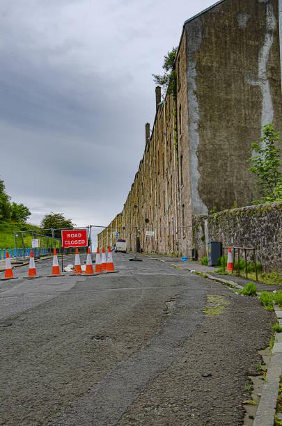 Bouverie, Port Glasgow stock photo