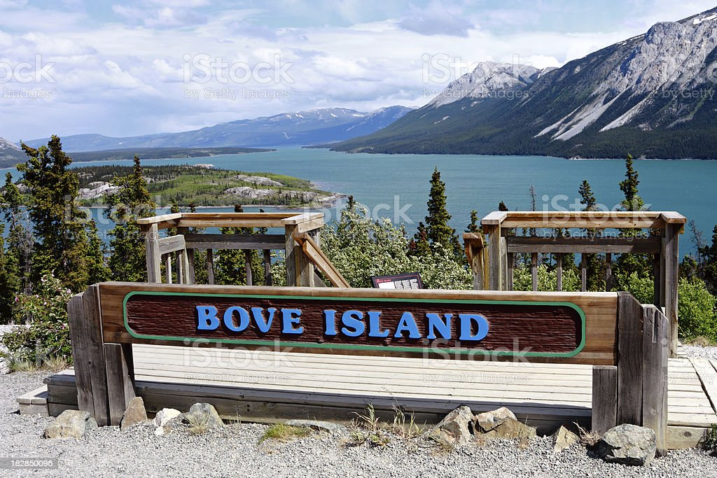 Bove Island in Yukon stock photo
